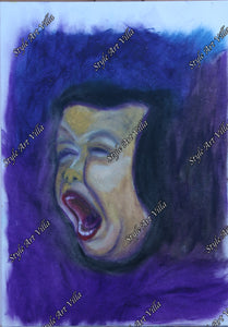 Scream - a pastel study of a screaming child