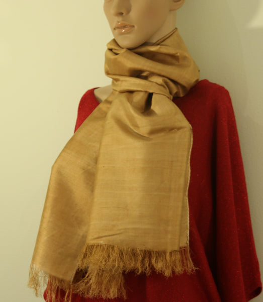 Pure Silk hand colored scarf - Pure Silk plain color stole - style-art-villa