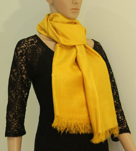 Pure Silk hand colored scarf - Style Art Villa