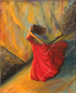 ´Lost in Fire´-  Oil painting on canvas 50cm x 60cm - Style Art Villa