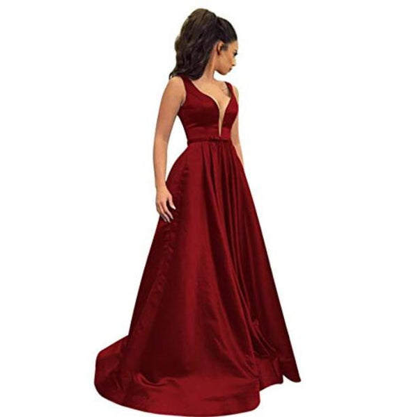 Elegant Evening Party Dresses with Pockets  - Free shipping (17-27 days)