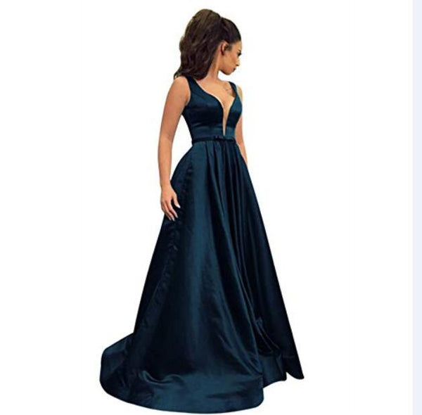 Elegant Evening Party Dresses with Pockets  - Free shipping
