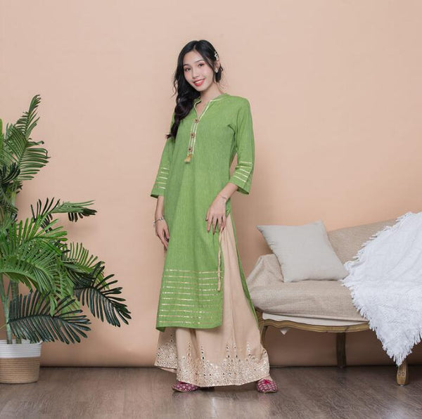 Ethnic Indian Styles Cotton dress (Top and Pants) - Free shipping