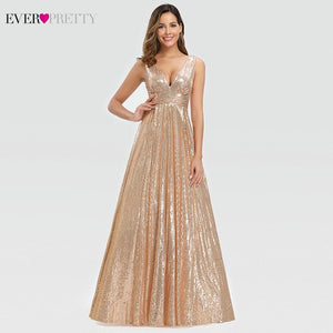 Rose Gold Evening Party A-Line - Free shipping (17-27 days)
