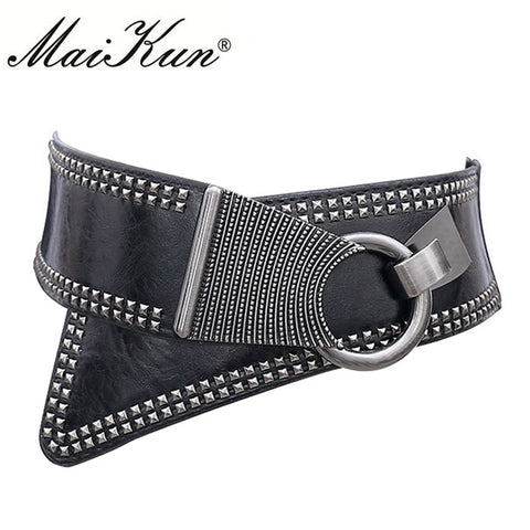 Maikun Fashion Rocker Wide Elastic Belts for Women - Free shipping