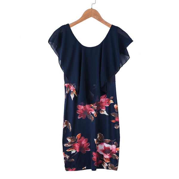Sleeveless Floral Printed Party Dress - Free shipping