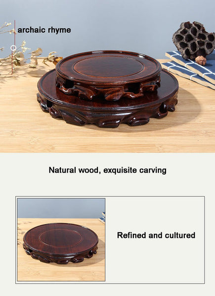 6-30cm Diameter Real Solid Wood Carving Vase base - Free shipping (17-27 days) - Style Art Villa
