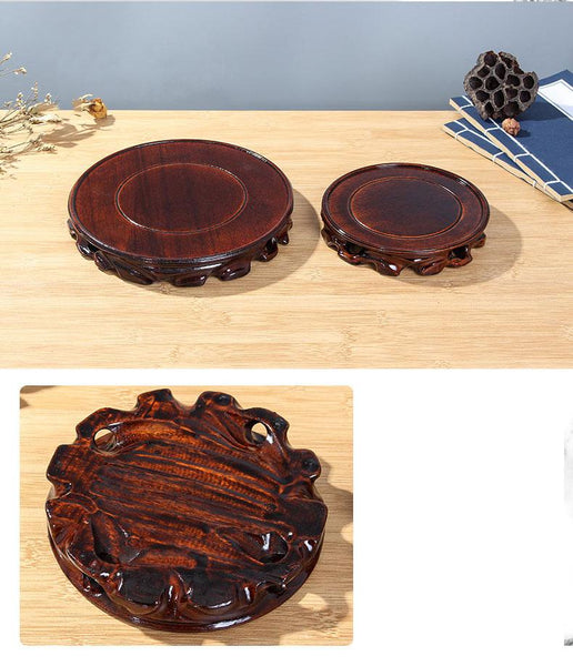 6-30cm Diameter Real Solid Wood Carving Vase base - Free shipping (17-27 days)