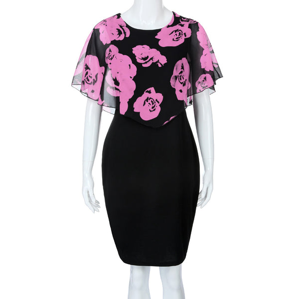 SAGACE Rose Print Dress - Free shipping