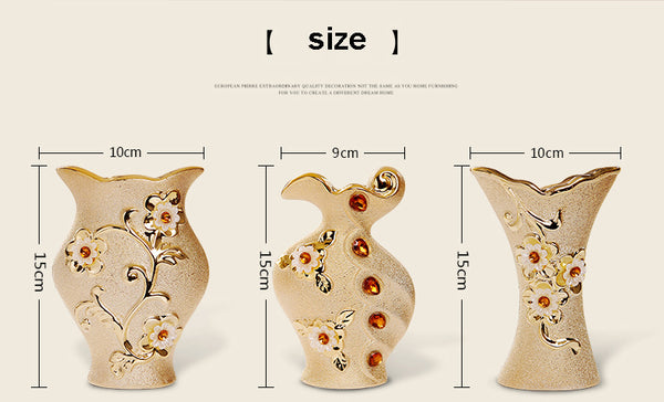 Luxury Golden Ceramic Vase - Free shipping (17-27 days)