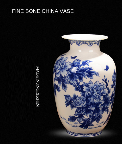 Jingdezhen blue and white Porcelain Vases - Free Shipping (17-27 days)