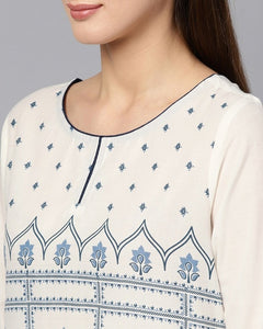 Ethnic Indian Style Printed Cotton Top - Free shipping