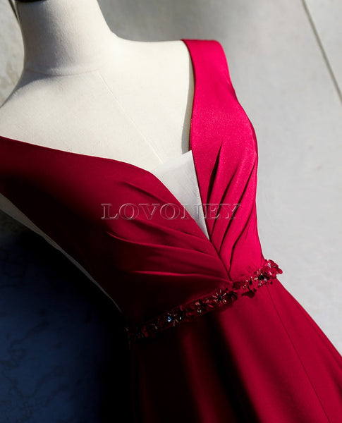 DEERVEADO Open Back Evening Dresses with Beading - Free shipping (17-27 days)