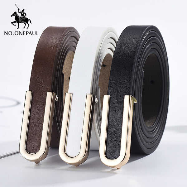 NO.ONEPAUL Top End Pure Leather Fashion Belt - Free shipping