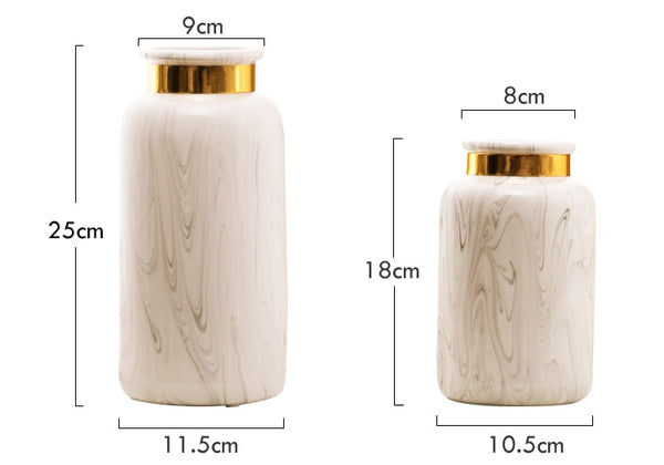 Europaen style Marbled Cearamic Vase - Free shipping (17-27 days)