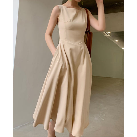 Hepburn New Elegant Midi Dress Women - Free shipping