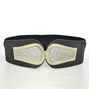 RAINIE SEAN Wide Rhinestone Belt - Free Shipping ( 17 -27 days)