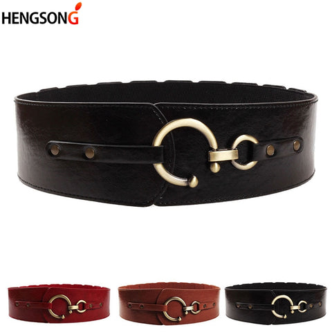 High Quality Faux Leather Wide Belt - Free shipping
