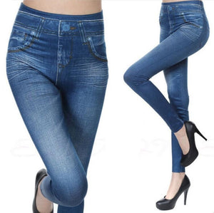 Imitation Denim style Fitness/Streetwear Leggings/tights - Free shipping