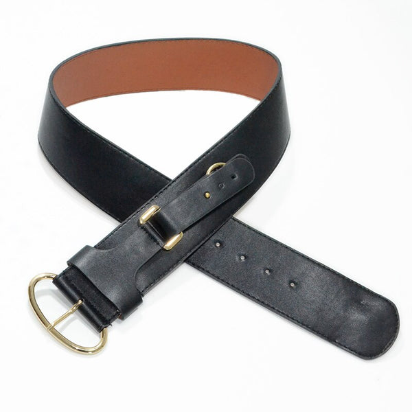 Luxury 6cm Wide Gold/Black Fashion Belt - Free shipping
