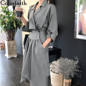 Casual Fashionable High Waist Three Quarter Dress - Free shipping (3-4 weeks)