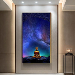 Buddhist Meditation Canvas Painting - Fee shipping (3-4 weeks) - Style Art Villa