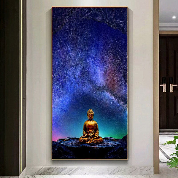 Buddhist Meditation Canvas Painting - Fee shipping (3-4 weeks)