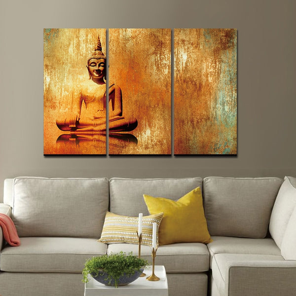 Lord Buddha Print on Canvas - Free Shipping
