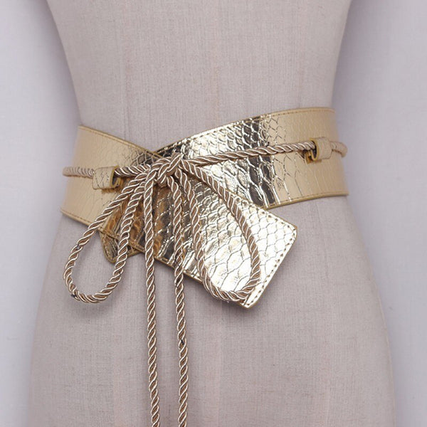 TWOTWINSTYLE PU Snakeskin Design Belt - Free shipping