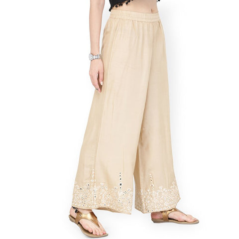 Ethnic Indian Broad legged Trousers - Fee shipping