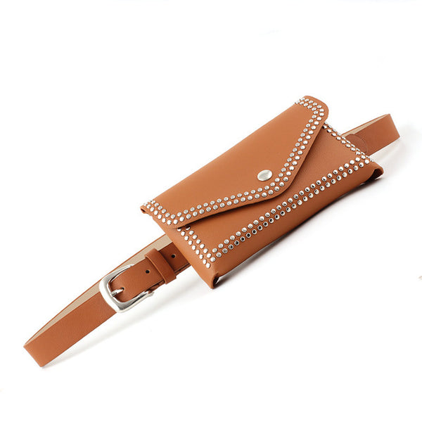 NO.ONEPAUL Genuine Leather Pin Studded Belt - Free shipping