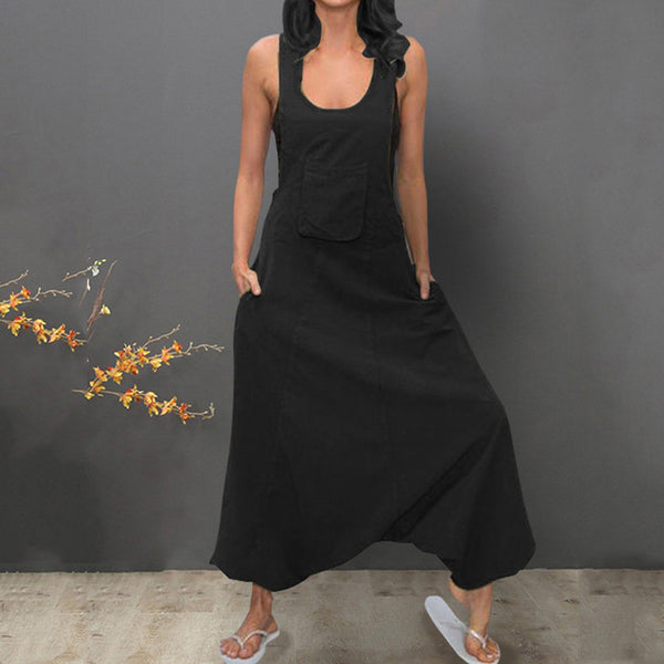 Linen Baggy Jumpsuits - Free shipping