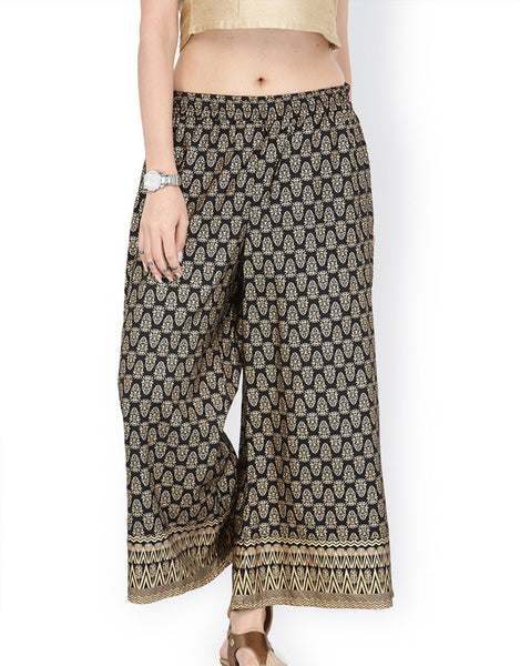 Ethnic Indian Broad legged Trousers - Free shipping