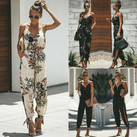 CANIS Cotton Sleeveless Jumpsuit - Free shipping - Style Art Villa