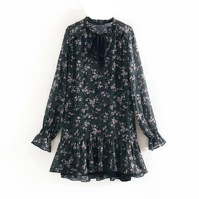 Aachoae Mini Floral Print Dress - Free shipping - Style Art Villa