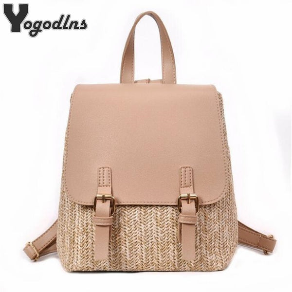 Yogodlns Straw Backpack - Free shipping
