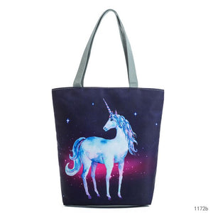 Mikyahouse Printed Canvas Handbag - Free shipping