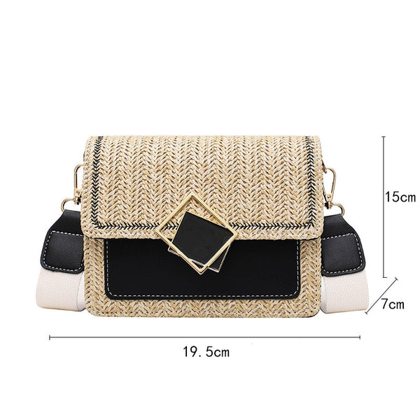 Yogodlns Fashion Straw Shoulder Bags