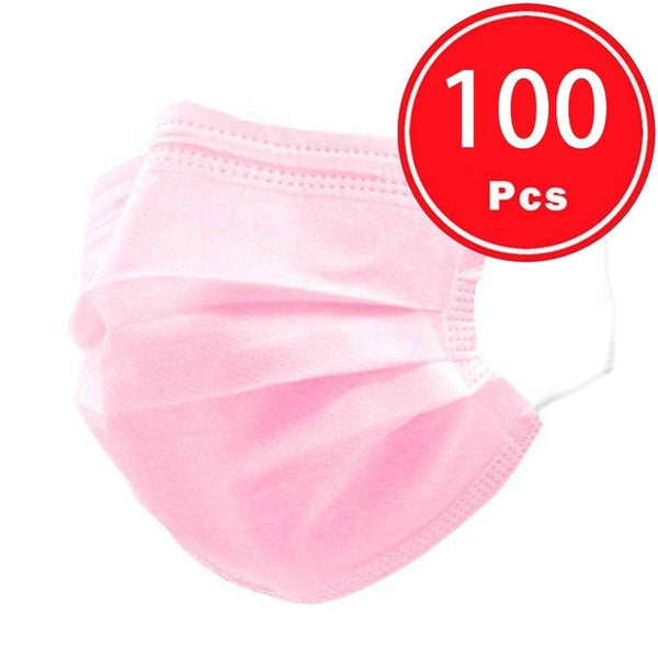 100/50pc Disposable  3ply Face Mask - Free shipping