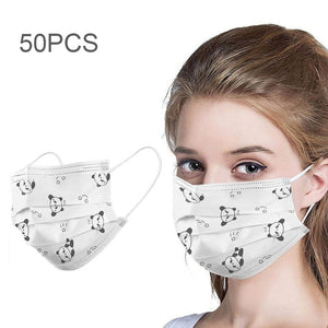 Unisex 3-ply Disposable Printed Face Maks - Free shipping