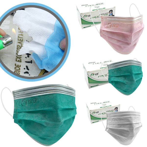 50PC Disposable Protective Face Masks - Free shipping