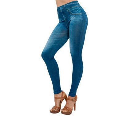 Jeans Style Fleece Lined tights - Free shipping