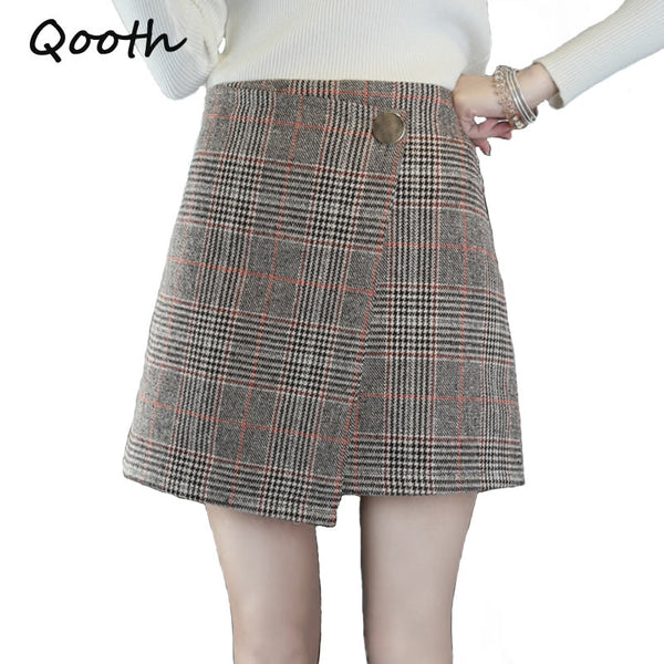 Preppy Style Mini Skirt Plaid Elegant- Free shipping (17-27 days) -  - style-art-villa