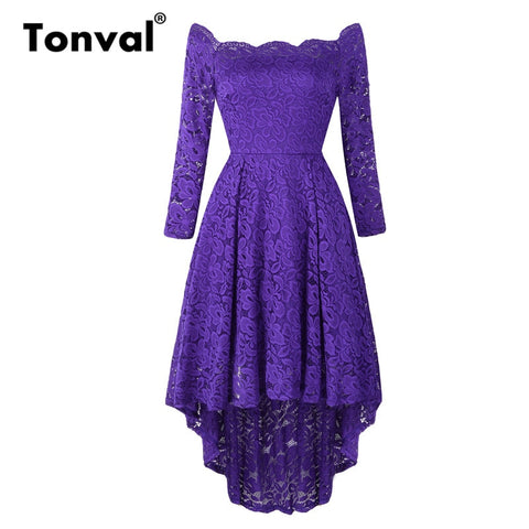 Off Shoulder long sleeve Evening Party Dress - Free shipping (17-27 days)
