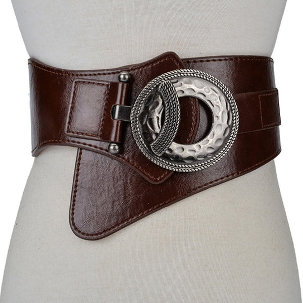 Hot Fashion Wide Elastic Stretch Leather Belt - Free shipping