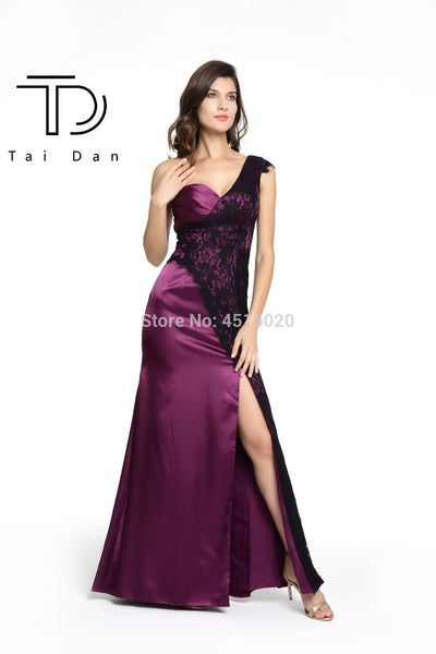 One-Shoulder Prom Evening Dress _ Free shipping (17-27 days)