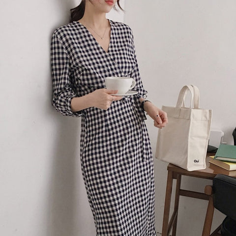 Cotton/Linen Casual Smart Women Dress - Free shipping