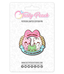 Meowchi 10 Year Anniversary Enamel Pin - August 2020 Pin Club