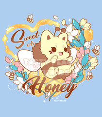 'Sweet as Honey' Meowchi Tee - Unisex - Charity Tee