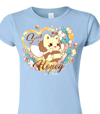 'Sweet as Honey' Meowchi Tee - Fitted - Charity Tee
